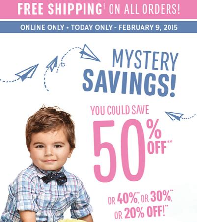 A Free Shipping Mystery - children s place free shipping plus mystery savings up