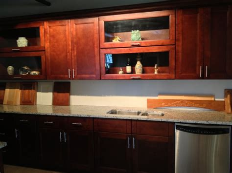 horizontal kitchen cabinets harlan shaker horizontal glass door cabinets transitional other metro by distinct