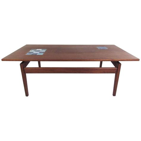 jens risom coffee table with ceramic tile for sale at