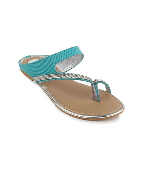 turquoise flat shoes shezone turquoise suede daily wear flat sandals price in