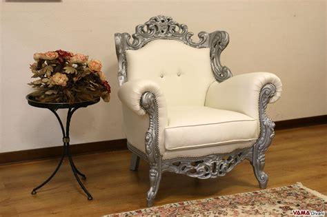poltrone stile barocco poltrona barocco vama divani