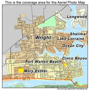 aerial photography map of fort walton fl florida