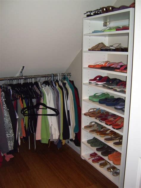 slanted ceiling closet white walk in closet slanted ceiling closets