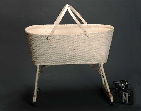 sale vintage white wicker bassinet baby basket by