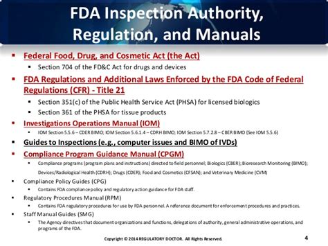 public health service act section 361 the us fda quality system regulation qsr what every