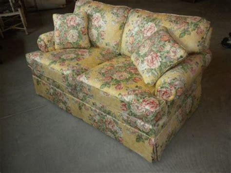 ethan allen custom floral print seat sofa ebay