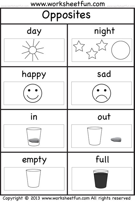 opposites coloring pages preschool kindergarten opposites worksheet preschool position and