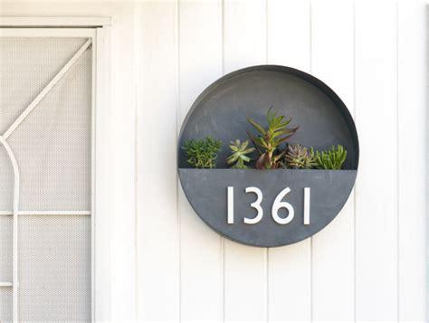 metal diy house number planter box diyideacentercom