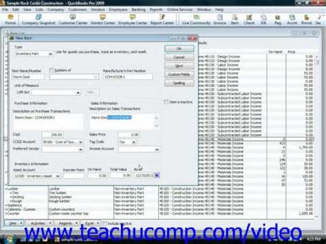 quickbooks accounting tutorial youtube quickbooks tutorial creating inventory items intuit