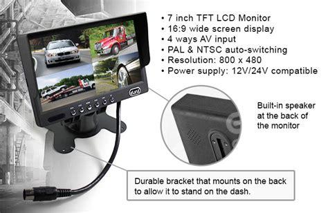 7 quot monitor splitscreen colour reversing rear view
