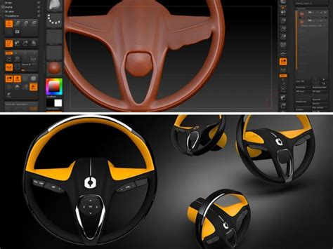 zbrush tutorial car steering wheel concept ideation in zbrush car body design
