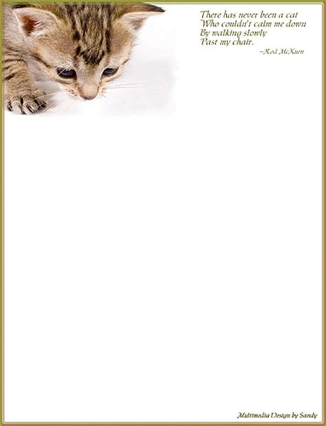 printable cat stationery cat s calm stationery a photo on flickriver