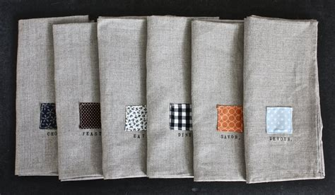 Room Decoration Handmade - decor handmade linen napkins for dining room decoration ideas