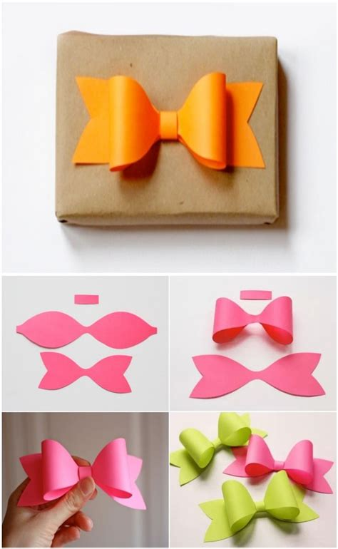 Make A Paper Bow - how to make paper bow manualidades queso