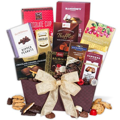 chocolate gift baskets chocolate gift basket classic by gourmetgiftbaskets