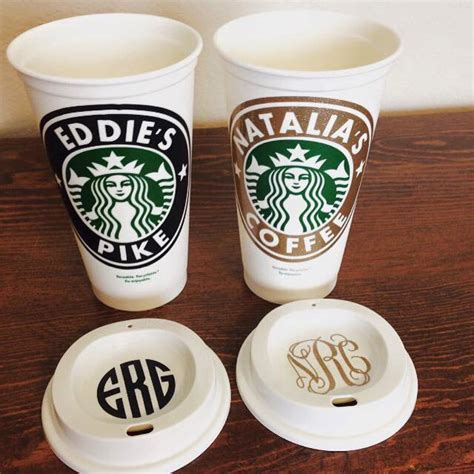 Starbucks Personalized Coffee Cup, Reusable Starbucks Cup, Starbucks Tumbler with FREE Monogram
