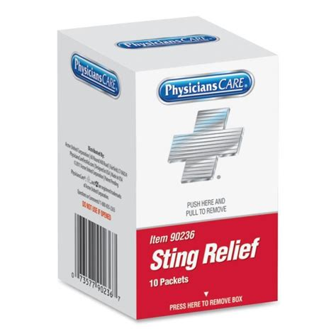 rubber sting kits acme united sting relief pad quickship