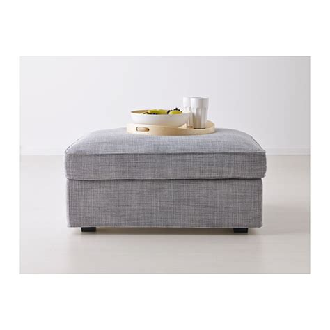 kivik ottoman with storage isunda brown ikea kivik footstool with storage isunda grey ikea