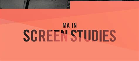 Mba Ma International Relations by Screen Studies Barry R Feirstein Graduate School Of Cinema