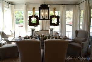 southern dining rooms southern living idea house 2012 christmas slipcovered grey