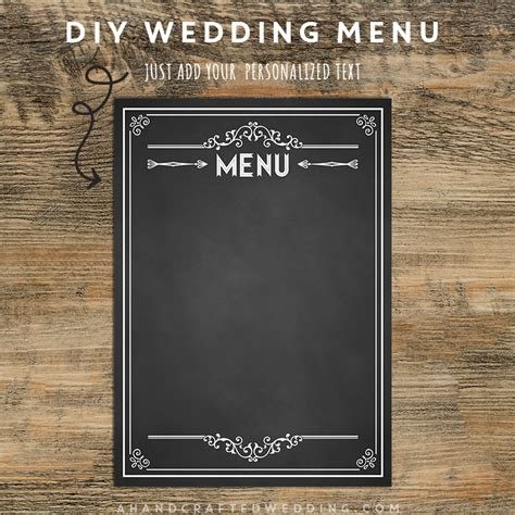 7 chalkboard menu template procedure template sle