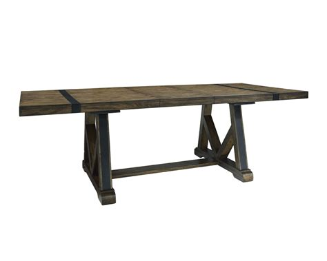 a trestle table nelson trestle table w 1 18 leaf mcgregors furniture