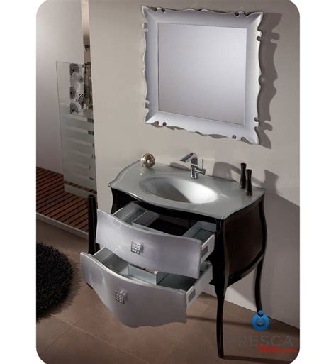 silver bathroom vanity fresca platinum fpvn7514sl bl paris 35 quot glossy silver