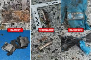 Blue Foyer Found At The Scene In Manchester Shrapnel A Backpack And