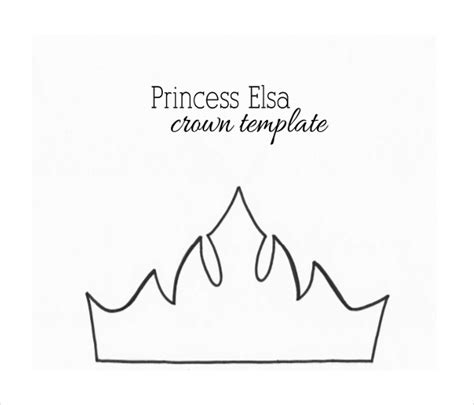 free printable elsa crown template king and queen crown templates 472
