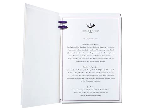 Hochzeitseinladung Programm by Hochzeitseinladung Mit Programmheft Samtband Carte Royale