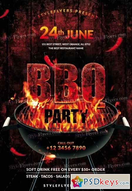 Bbq Psd Flyer Template 6 187 Free Download Photoshop Vector Bbq Flyer Template Free