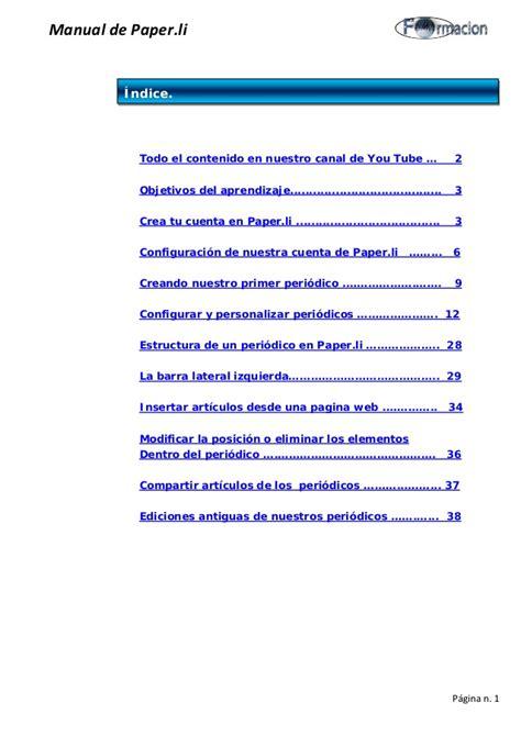 Paper L - manual de paper li agosto 2 015