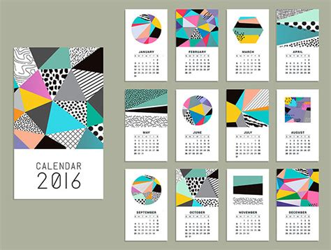 Design Calendar Graphic | 21 best calendar templates for 2016 web graphic design