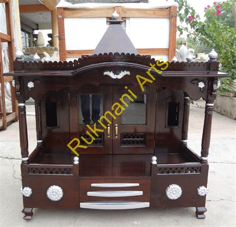 code 89 wooden carved teakwood temple mandir wooden