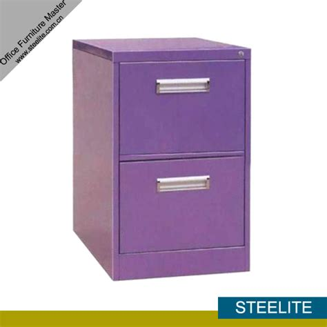 Purple Filing Cabinet Laptop 2 Drawer Purple Metal File Cabinet On Desk