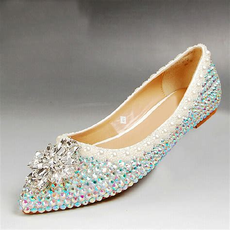 flat wedding shoes with bling buy 2015 free shipping rhinestone flat