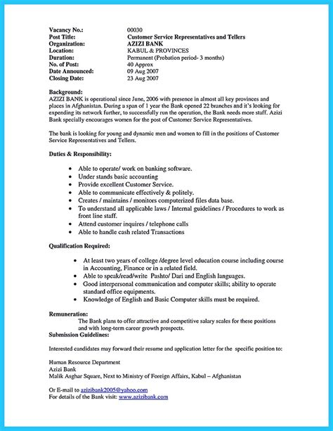 Resume Exles Banking Customer Service One Of Recommended Banking Resume Exles To Learn