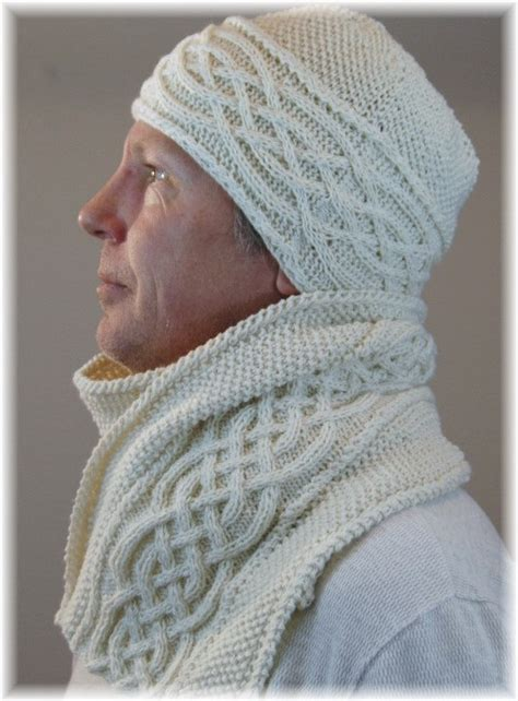 knitting patterns hat scarf combination pure cashmere scarf and hat set or combo for men hand knit