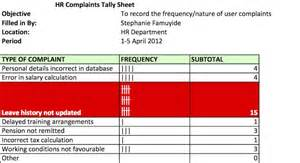 excel tally sheet template tally sheet click to enlarge