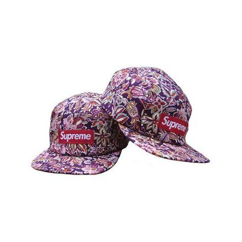 Snapback Supreme 19 supreme box logo 5 panel floral purple c snapback cap