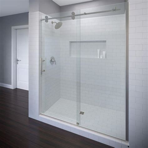 Basco Vinesse Lux 59 In X 76 In Semi Frameless Sliding Semi Frameless Sliding Shower Door