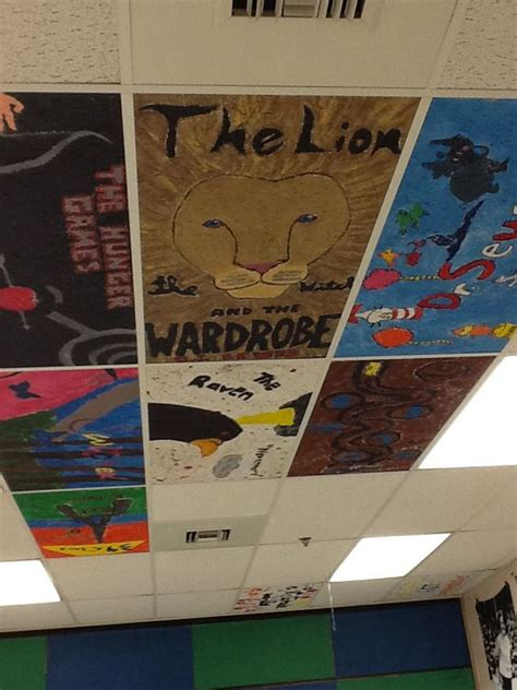 painted ceiling tiles classroom ideas pinterest