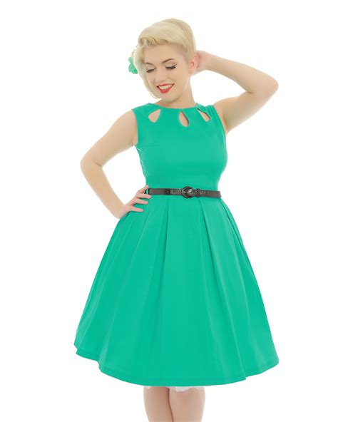 cotton swing dress lily turquoise cotton swing dress