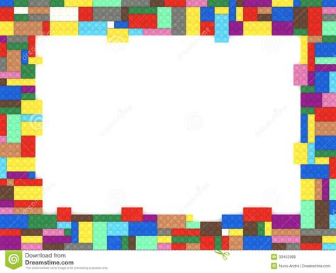 Toy Bricks Picture Frame Royalty Free Stock Photos   Image