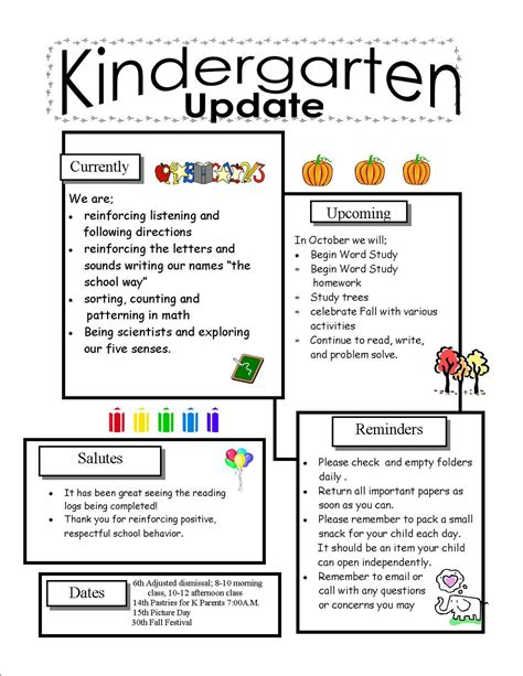 Kindergarten Newsletter Template quotes for a parent newsletter quotesgram