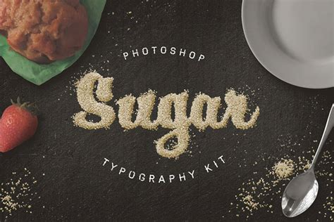 Food Typography Tutorial Photoshop | food typography photoshop actions