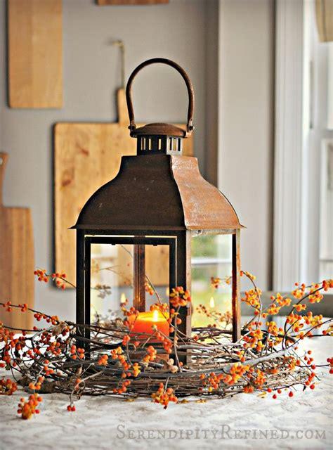 fall lanterns  outdoor  indoor decor digsdigs