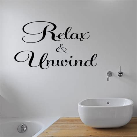 wall stickers for bathroom relax unwind bathroom wall stickers decal