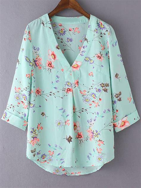Floral V Neck Chiffon Blouse 25 chiffon blouses ideas on evening