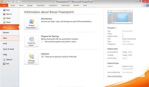 membuat file presentasi menarik cara membuat presentasi menarik dengan template bawaan